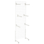 "White Gridwall ""L"" Stand w/ 25 Faceouts, 74"" Tall"
