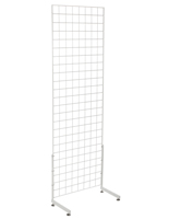 "White Gridwall ""L"" Stand, 6' High Panels"