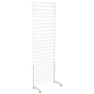 "White Gridwall ""L"" Stand with Floor Bumpers"