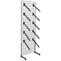 "Black Gridwall ""L"" Base Waterfall Display Set with Tiered Design"