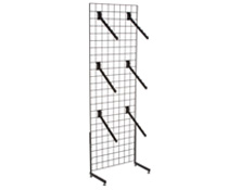 "Black Gridwall ""L"" Stand w/ 25 Waterfall Faceouts, Hardware Included"
