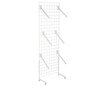"White Gridwall ""L"" Stand w/ 25 Waterfall Faceouts, Hardware Included"