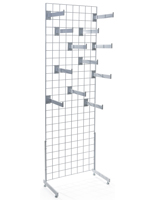 Glossy White Gridwall Faceout Merchandiser Set
