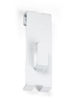 Photo display hanger white gridwall utility notch hook