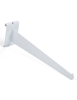 "Lipped edge 12"" white gridwall knife bracket"