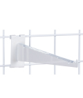 "Sturdy 12"" White Gridwall Shelf Bracket"