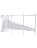 "Durable 12"" White Gridwall Shelf Bracket"