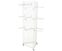 Triangular Gridwall Stand w/ 25 Faceouts for Boutiques