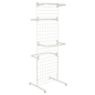 "White Gridwall ""T"" Stand w/ 10 ""C"" Hangers, 2 Sets Included"