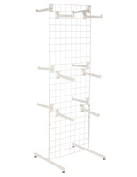 "White Gridwall ""T"" Stand w/ 25 Faceouts, 74"" Overall Height"