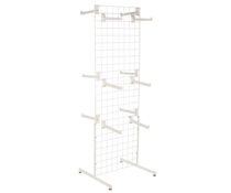 "White Gridwall ""T"" Stand w/ 25 Faceouts, Hardware Included"