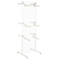 "White Gridwall ""T"" Stand w/ 25 Faceouts, Floorstanding"