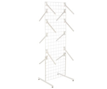 "White Gridwall ""T"" Stand w/ 25 Waterfall Faceouts, Hardware Included"