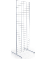 "Metal White Gridwall ""T"" Base Merchandisers"