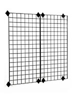 2' x 4' Gridwall Panel with Mounting Brackets Set of 8
