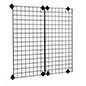 2' x 4' Gridwall Panel with Mounting Brackets and Props