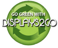 Go Green with Displays2go