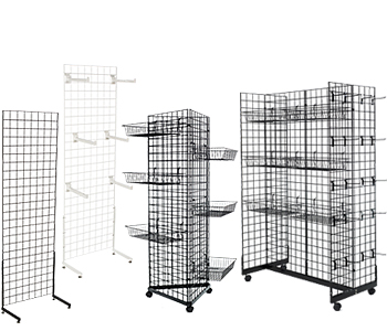 Collection of four gridwall store fixtures