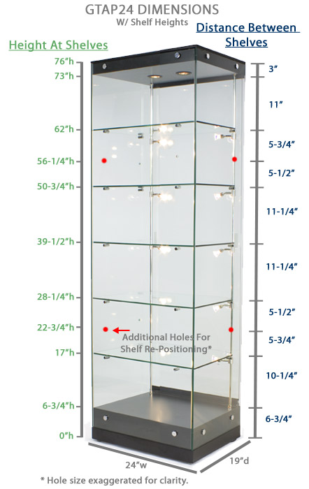 Display Showcases Interior Lit Glass Display Cases