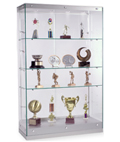 Contemporary Glass Display Cabinets with Foot Levelers