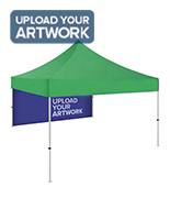 Personalized pop up tent backwall with dye sublimation printing