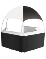 Portable Black/White Dome Kiosk