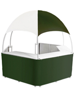 Pop-Up Green/White Promotional Gazebo