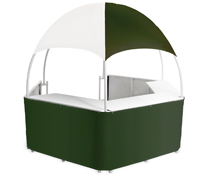Green/White Promotional Gazebo with 4 Carrying Bags