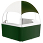 "Green/White Promotional Gazebo with 19"" Deep Counters"
