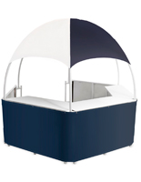 Blue/White Promotional Gazebo with Vinyl Canopy