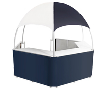 Blue/White Promotional Gazebo with Carrying Bags