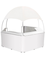 Portable White Trade Show Gazebo