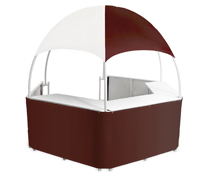 Outdoor Burgundy/White Trade Show Gazebo