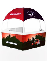 Promotion Booth Offers Custom Graphics for Adorning the Exterior