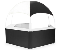 Pop-Up Black/White Tent Kiosk
