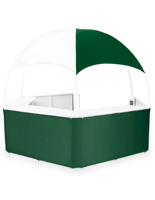 Outdoor Green/White Event Gazebo