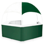 Green/White Event Gazebo with Furniture Grade PVC Framing