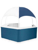 Outdoor Blue/White Gazebo Kiosk