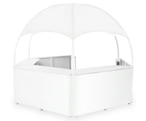 Pop-Up White Dome Booth Canopy