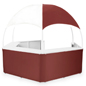 Burgundy/White Gazebo Kiosk with Portable Design
