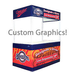 Portable Display Booth for Outdoor Trade Shows