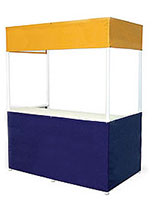6'w Portable Display Booth with Colored Vinyl Fabric