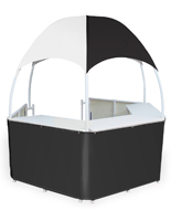 Portable Black/White Gazebo Kiosk