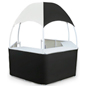 Black/White Gazebo Kiosk with Carrying Bags