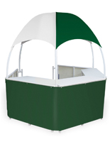 Portable Green/White Trade Show Gazebo