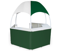 Green/White Trade Show Gazebo with Quick Assembly
