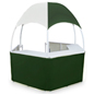 Green/White Trade Show Gazebo with Carrying Bags