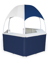 Portable Blue/White Tent Kiosk