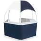 Blue/White Tent Kiosk with Vinyl Canopy