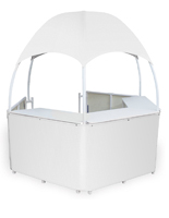 Portable White Dome Kiosk